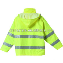 EN471 Waterproof Hooded Reflective Safety Winter Jacket