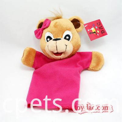 bear with t-shirt hand puppet
