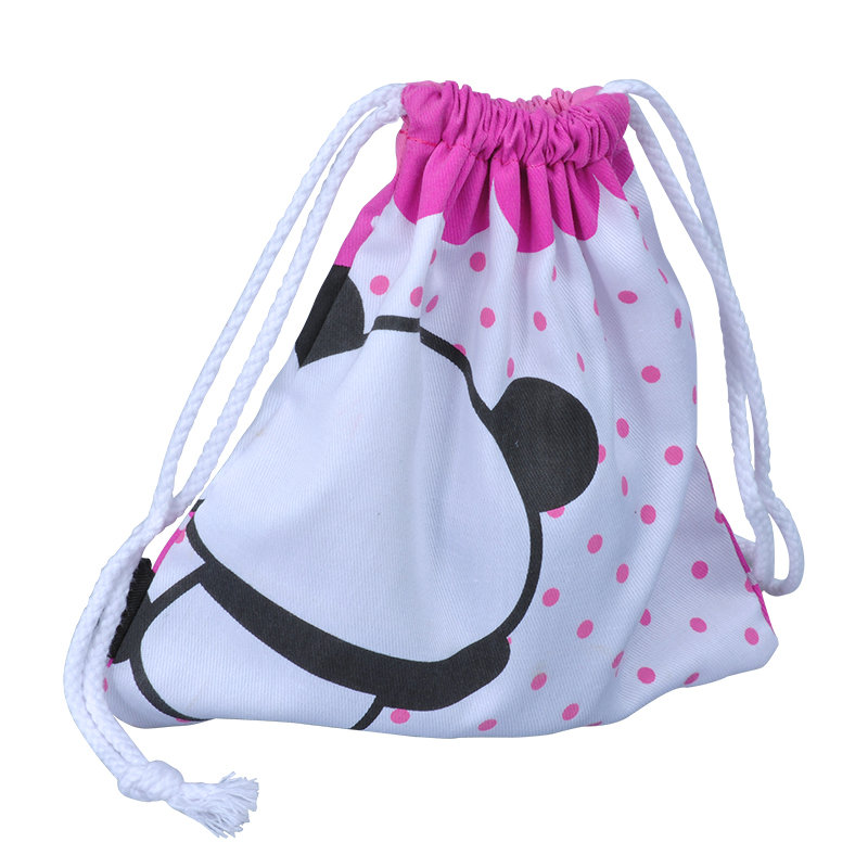 Printed Muslin Drawstring Cotton Bag