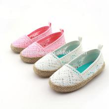 Sapatas das meninas da forma calçados casuais ocasionais do espadrille da juta