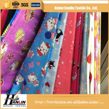 A grade stock printing flannel fabric for garments