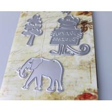 Handwerk-gestanzt Tier für Papier Sammelalbum Großhandel Mode schwer Silber grau Metall