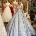 Vestido de baile vestido de noiva de luxo cinza vestido de noiva 2017 HA749B