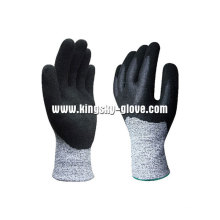 13G Hppe Liner Anti-Cut Nitrile Double Dipped Glove-5049