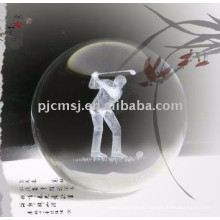 Pelota de cristal grabada con láser 3D para souvenirs