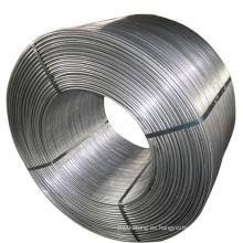 Alambre con núcleo para la fabricación de acero