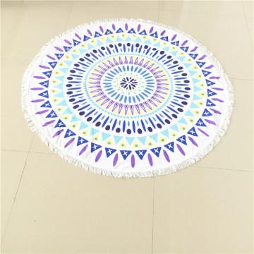 Velour Mandala Roundie Beach Towel Round