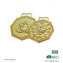 Zink-Legierungs-3D Logo überzog musikalische Thema-Preis-Medaille