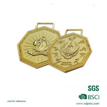 Liga de zinco 3D logotipo banhado a medalha de prêmio de tema musical