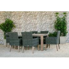 Design Extraodinar Pátio Garden Dining Set PE Rattan Móveis de vime para exterior
