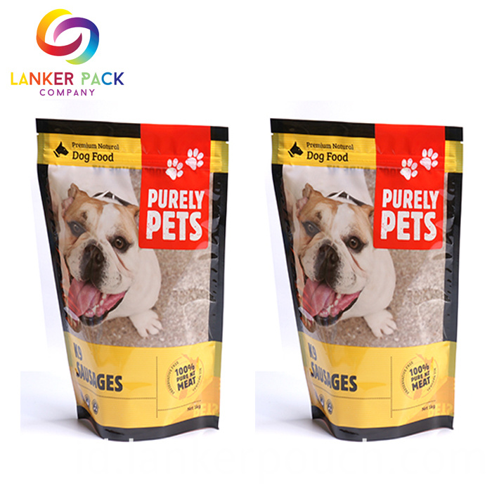 High Quality Reusable Top Zip Aluminum Foil Stand Up Pouch For Pet Food