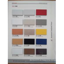 3mm / 4mm / 5mm / 6mm panel compuesto de aluminio PVDF (ACP) para uso al aire libre