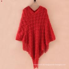 Suéter de punto para mujer envuelve chal de punto de invierno (SP620)