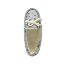 Factory best selling for Women'S Suede Moccasins comfortable blue star print moccasins slippers for ladies supply to Burkina Faso Exporter