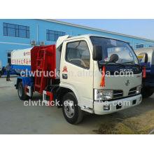 Dongfeng mini 5m3 gancho levantar camión 4x2 levantador hidráulico basura camión