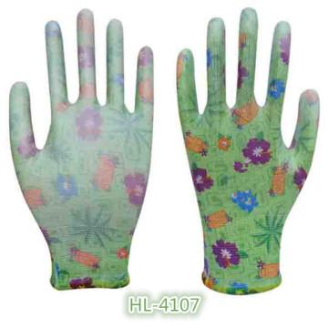13G Polyester Nylon PU enduit gant