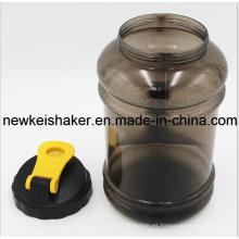 Tapa de boca ancha 2.2L PETG gimnasia botella de agua / plástico BPA jarra de agua gratis con mango