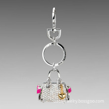 Fashion key chains with lady bags pendant