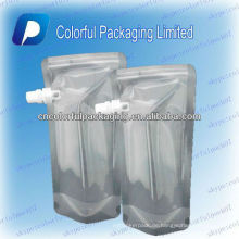 Klare Stand-up-Flüssigkeit Tülle / Plastiktüte für Wasser / Wasserbeutel