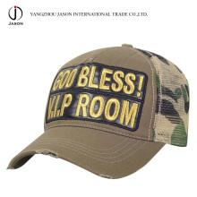 Tampão relativo à promoção do chapéu da forma do lazer do boné de beisebol do tampão do camionista do painel do tampão 5 da malha