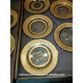 Werbe-Luxus, dekorative Platte mit Gold trimmen