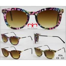 2016 Модные женские солнцезащитные очки с металлическим храмом (WSP510405)