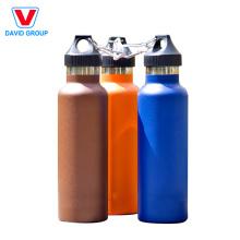 Logo de fournisseur certifié adapté aux besoins du client bouteille d'eau en acier inoxydable isolée par vide promotionnel