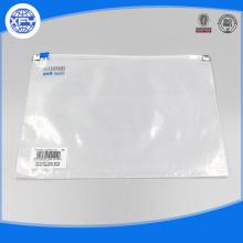 Personalizzato trasparente chiaro borsa con cerniera impermeabile in plastica PVC