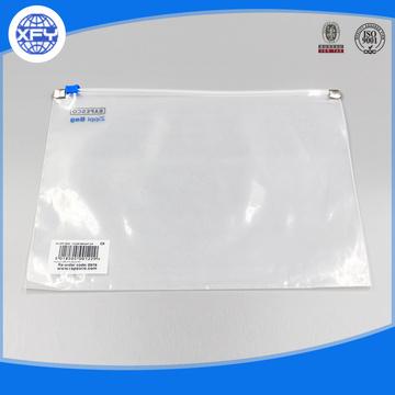 Custom Transparent Waterproof Clear Zipper Plastic PVC Bag
