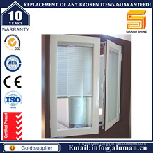 Aluminum French Casement Inward Opening Window with Blinds