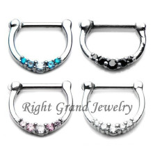 16G Septum Ring Surgical Steel Septum Clicker Body Piercing Jewelry