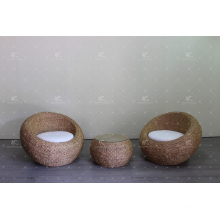 Classy Egg Sofa Set Weaved Of Natural Material - Water Hyacinth Wicker For Indoor Use