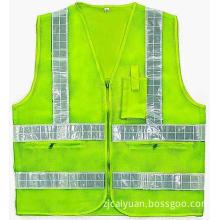 Reflective Mesh Vest with PVC Reflective Straps 5cm