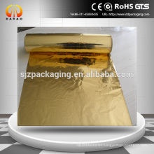 12 micron golden glossy pet film metallized film