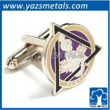 Dental caduceus cufflinks, customize high quality metal crafts