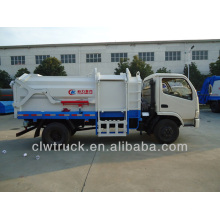 Dongfeng 4000L 4x2 compactor garbage truck with bin lifter