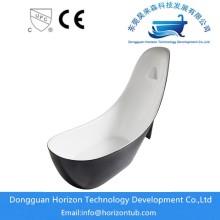 High heeled shape acrylic bathtub
