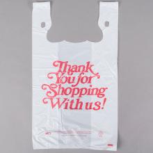 Camiseta Bolsos de compras en blanco con estampado