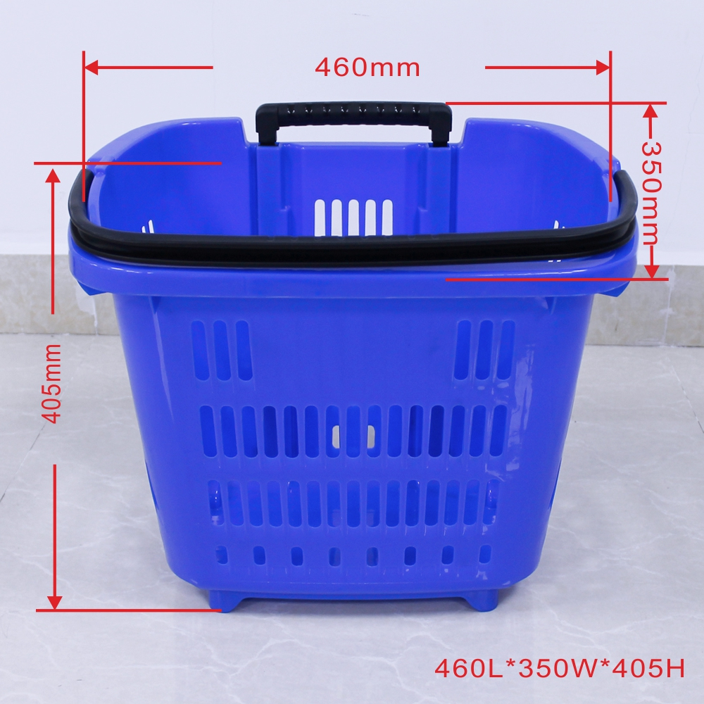 Blue Shopping Baskets