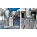Stainless steel electric heating cosmetic mixing tank/mixer
