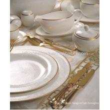 Cuchillería de la cena de la porcelana de la placa de la estampa de la cuchara de la cena de la cena de la cena al por mayor