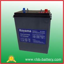 2015 bateria nova nova do gel do ciclo de 310ah 6V para o mercado europeu