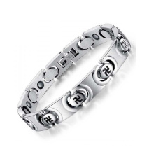 Top sale permanent bracelet stainless steel jewelry,silver circle chain bracelets