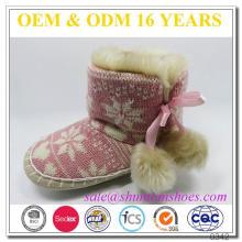Последние снежинки вязаные с искусственным мехом lind kids boots