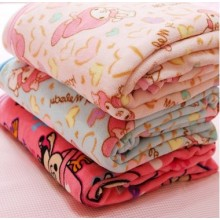 Children Coral Fleece Bedding Set: Cartoon Blanket and Pillowcase