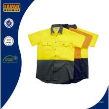 Sommer-Baumwoll-High-Vis-Schutz-Kurzarm-Shirt