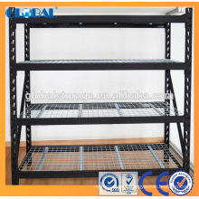 Medium duty industrial rack/Matte Black Powder Coated with wire decking Series A/Mould Rack of welding type