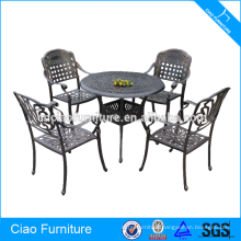 Outdoor Furniture Luxury Cast Aluminum Dining Set