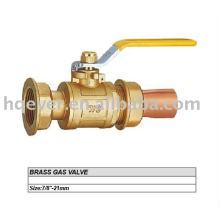 """Válvula de gás de bronze de 7/8 """"CE"""