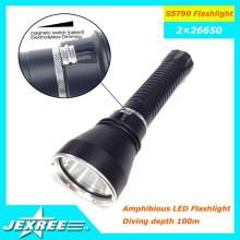 Jexree Gold Supplier from China SST-90 lampe de poche 2500lumen 2 * 26650 torche pour le camping de plongée
